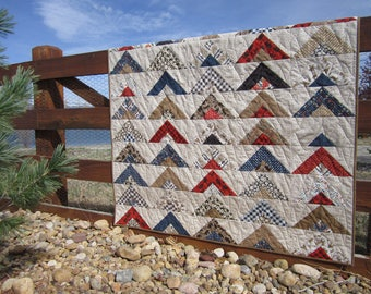 Homemade Quilt, Patchwork Quilt, Handmade Quilt, Lap Quilt, Cabin Quilt, Mountain Quilt, Lodge, Sofa Throw Quilt
