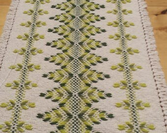 Natural Swedish Weave Table Runner