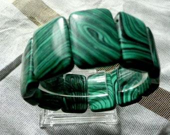 Bracelet, artificial malachite uni-size,easy wear bracelet, vivid malachite stone,