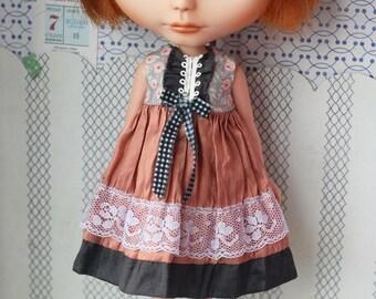 Silk dress for blythe