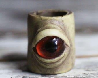 Eye dreadlock dread bead 10-12mm