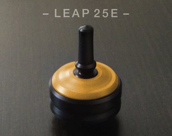 LEAP 25E YELLOW – Spin Top with integrated rubber grip and ceramic tip