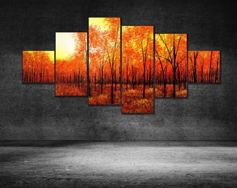 Multi Panel Canvas Wall Art, Tree Canvas Multi Panel Art Print, Made In USA