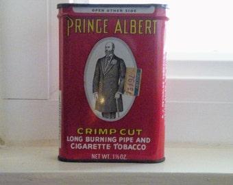 Vintage Tin, Vintage Prince Albert Crimp Cut Tin, Tin, Can Vintaage Can, Chew, Tobacco, Collectible