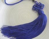 Lapis blue art silk Moroccan decorative tassel, Moroccan decor, accessory