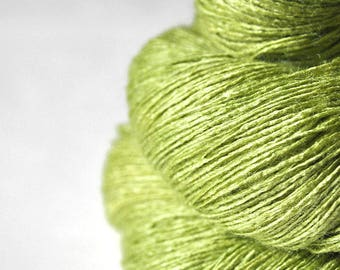 Withering seedling OOAK  - Tussah Silk Lace Yarn