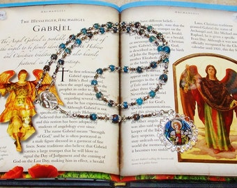 Ornate Traditional Catholic Chaplet of St. Gabriel the Archangel - Patron Saint of Communications Workers, Postal Employees