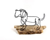 Dog Wire Sculpture, Basset Hound Wire, Hound Wire Sculpture, 472200174