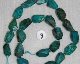 Chrysocolla, Chrysocolla Nugget, Blue Green Nugget, Grade A+, Natural Stone, Semi Precious Nugget, Full Strand, 15-19 mm, AdrianasBeads
