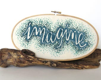 imagine  embroidered hoop
