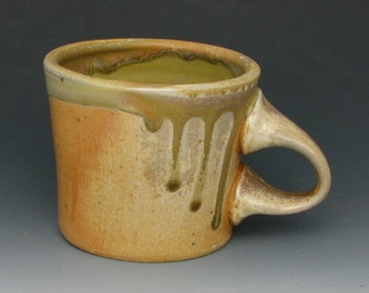 WOOD FIRED MUG #12 - Stoneware Mug - Ceramic Mug - Coffee Mug - Pottery Mug - Tea Mug - Small Mug - Wood Fired Pottery - Studio Pottery