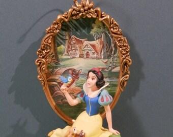 Hallmark Snow White Ornament 25th Anniversary Walt Disney Fairy Tale Princess Forest Backdrop Woodland Friends Collect Display Keepsake Gift