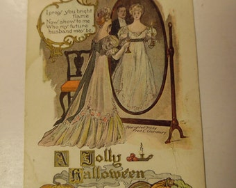 vintage postcards, old halloween postcards, vintage halloween postcards, jack o lantern postcards, black cat postcard