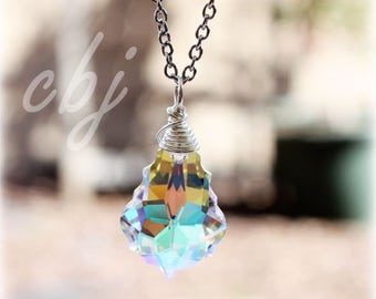 Crystal Charm, Crystal Pendant Necklace, Crystal Drop, Custom made Crystal Jewelry, Custom made wire wrapped crystals