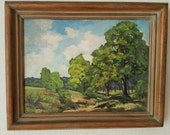 SALE!! Scott Von Weller Antique Vintage California Plein Air Landscape Painting