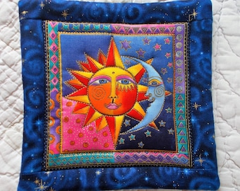 Sun and Moon Hot Pad/ Designer Material by Laurel Burch/potholder