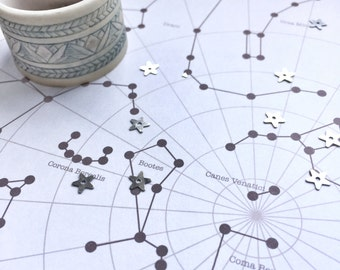 Personalised Star Map | Digital File | A unique map of the stars on a date special to you | Anniversary Present | Birthday Present