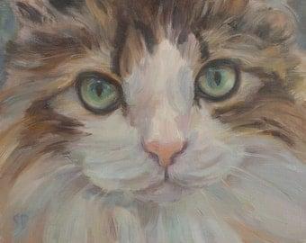 Custom Portrait, personalized gift, Dog Portrait, Cat Portrait, Commission, Gift Idea, puppy portrait, paint my dog, original oil painting
