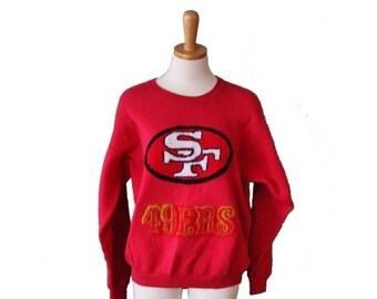 sale // Vintage San Francisco 49ers Football Sweatshirt  - 80s NFL - Women Men L