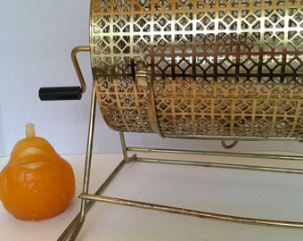 GAMBLING CAGE with HANDLE, Wireware, Gold Wire, Family Gatherings, Game Night, Mid Century at Modern Logic