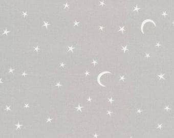 Organic Cotton Fabric - Cloud9 Tout Petit Sheeting - Star Night Gray