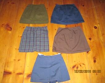 Lot of 5 Vintage womans skirts mini skirts