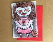 Greeting Card - Evil Dolly?
