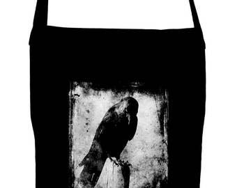 Evil Eye Raven Sling Bag Dark Alternative Book Bag Edgar Allan Poe Nevermore - SB-2017058