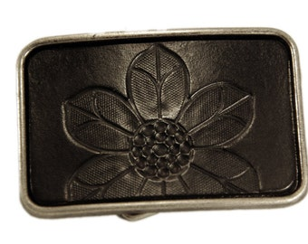 Belt buckle, flower buckle, flower belt buckle, black belt buckle, black flower