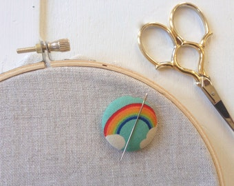 Needleminder,Needle,Minder,Rainbow,Rainbow and Clouds,Gift,Needle Keeper,Embroidery,Needlepoint Supplies,Crossstitch Supplies,Crosstitch