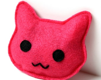 Cat Toy- Pink Pussy Cat Catnip Felt Cat Toy, cat toys, felt cat toy, nasty woman, catnip toy, handmade cat toy, cat gift