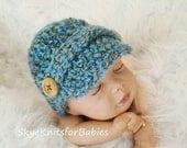 Newsboy Baby Hat, Crochet Newsboy Cap, Newborn Newsboy Hat, Baby Hat, Newsgirl Cap, Newborn Photography Prop