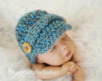 Newborn Newsboy Hat, Crochet Newsboy Cap, Baby Newsboy Hat, Baby Hat, Newsgirl Cap, Baby Boy Hat, Baby Girl Hat, Newborn Photography Prop