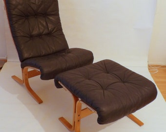 One Norway Westnofa Siesta Easy Chair with its Ottoman by Ingmar Relling ON SALE