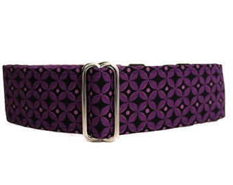Purple Martingale Collar, 1.5 Inch Martingale Collars, Greyhound Martingale Collar, Purple Dog Collar, Purple Greyhound Collar