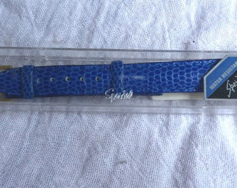 Vintage Blue Speidel Watch Band In Original Case - 14MM Water Resistant