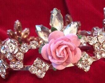 Newborn crown , Newborn  rhinestone Crown, floral crown, baby girl crown , photo prop, rhinestone crown