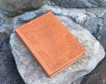 Tan Leather Journal, notebook, diary or sketchbook