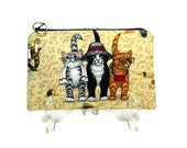 Zipper Pouch, Cats on The Beach, Makeup Bag, Cosmetic Pouch, Pencil Case, Gadget Bag, Organizer Pouch, Purse Pouch, Gifts for Mom