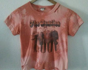 The Beatles TShirt / Crop Top / Half Tee / Graphic / Band Shirt / McCartney / Lennon / Ringo /Harrison/ Boho / Indie / Grunge / Classic Rock