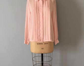pleated rose pink blouse || petal collar blouse || pleated collar blouse