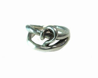 Esoteric Men's  Sterling Silver .925 Knot Ring, size 9
