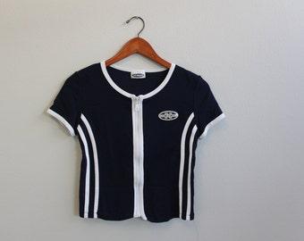 Vintage 90s Zipper Tshirt By JK Maple