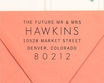 Return Address Stamp, Address Stamp, Self Inking Return Address Stamp, Wedding Address Stamp, RSVP Stamp, Future Mr and Mrs Stamp - No. 10