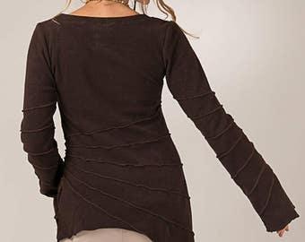 Pixie Sunburst Long Cotton Towel Top - women's clothing