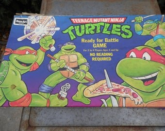 Teenage Mutant Ninja Turtles vintage 1990 ready for battle game Rose Art board game Heroes in a half shell Turtle Power!Ready for 3 players