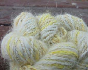 Hand Spun Hand Dyed Angora Yarn