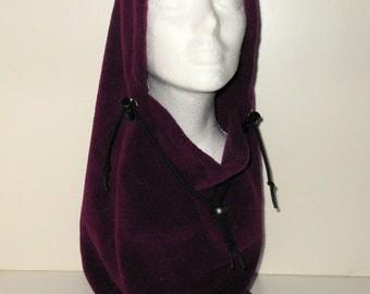 Raisin Colored Adult Fleece Balaclava Hat - Ski Mask - Winter Hat - Gift For Her - Gift For Him - Unique Gift - Wanderlust