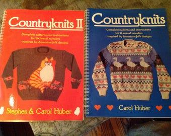 Vintage 1988 Countryknits Books Knitting Patterns Carol Huber