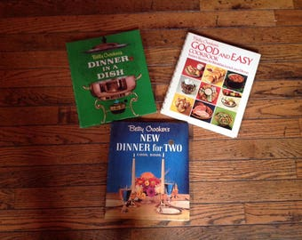 Vintage 1970's Betty Crocker Cook Books Dinner for Two Dinner in a Dish Good & Easy Cookbook